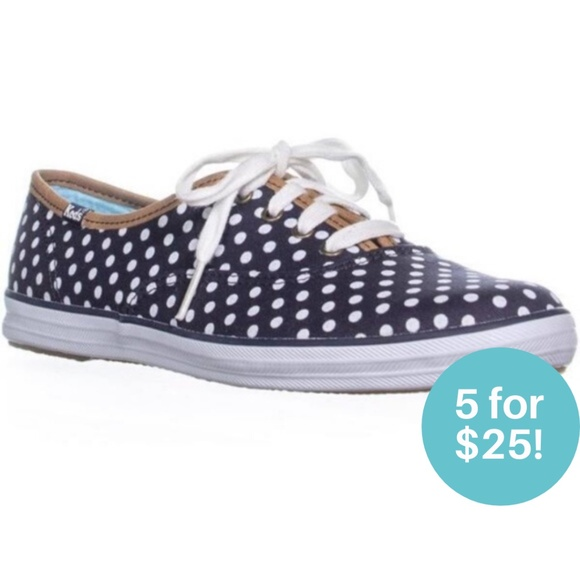 5/$25 - Keds Polka Dot Sneakers Blue and White 5